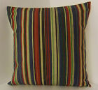 NEW SINGLE STRIPED CUSHION COVERS BLUE DEEP RED BEIGE THICK AND THIN STRIPES