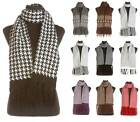 Mens Unisex Quality Winter Knitted Scarves - Dogtooth, Herringbone & Snowflake