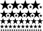 54pcs Star Stars set wall art vinyl decal Removable kitchen bedroom