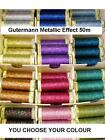 Gutermann Metallic Effect Glitter Sparkling Thread 50m Reel You Choose from 12