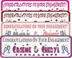 Congratulations Engagement Banner Personalised 1-5m big & bold Krafty Keepsakes