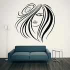 HAIR SALON Wall Sticker Hairdressing LADY ARTISTIC Art Beauty Transfer Stylist