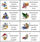 21 PERSONALISED DISNEY CHRISTMAS LABELS - GIFT TAGS - SELF ADHESIVE