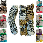 *BEVERLY HILLS POLO CLUB* 4 Pairs Animal Print Cozy,Fuzzy Socks 9-11