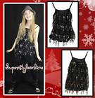 GIRLS SEQUIN TOP CHRISTMAS PARTY BLACK WITH GOLD OR SILVER TOP KIDS AGE 4-12 NEW