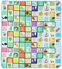 Toddler Baby Kids Crawl  Alphabet Learning Play Toy Mat Fruit Letters Mess Mats