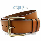"NEW Stylish MENS FULL GRAIN TAN LEATHER BELT1.5"" OLLYs Design RICHMOND Jeans"