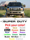 "SUPERDUTY DECALS\STICKERS LARGE 36""X 2.5"" FREE SHIPPING TO USA!"