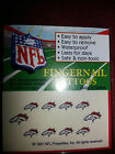 New NFL Variety of Teams Nail Decal Temporary Tattoo