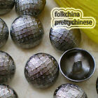 Silver Lattice 22mm  Metal Buttons Sewing Collectable Craft MB013