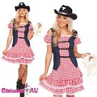 Ladies Western Cowgirl Cowboy Denim Costume Indian Rodeo Halloween Fancy Dress