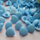 Blue Heart 13mm Plastic Buttons Sewing Scrapbooking Collectable Craft CHB