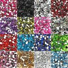 2000pcs Half Round Acrylic Crystal Rhinestone Beads 2mm For Nail Art Craft