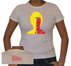 T-SHIRT DONNA BEATLES 7 STAMPA GIALLO ROSSO by SamyShop
