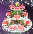 3 Tier Cup Cake Stand - Ginger Bread Men & Birthday Polka Dot Designs
