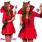 Ladies Medieval Evil Devil Demon Fancy Dress Hen Party Outfit Halloween Costume