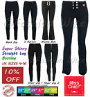 Ladies Smart Black Stretch Hipster Trousers Miss Sexies Miss Chief Size 4-16