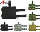 Molle Tactical Drop Leg Panel Utility Pouch Bag 5 Colors Black/ACU/Tan/Woodland