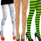 NEON  TIGHTS WHALENET STRIPED TUTU  FANCY DRESS  PARTY CYBER RAVE FOOTLESS