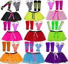NEON TUTU SKIRT SET  80's FANCY DRESS