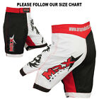 MRX MMA Shorts UFC Cage Grappling Short Fight Boxing Gear Kick Red White Black