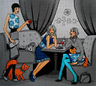 Needlepoint canvas '' Ladies in Cafe''