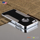 Luxury Brushed Aluminum Chrome Hard Case For iPhone 5