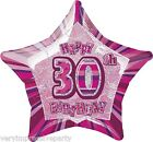 30TH PINK & SILVER BIRTHDAY PARTY DECORATIONS plates nakins balloons etc