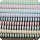 Ticking Style Stripe Fabric FAT QUARTER 100% Cotton 56cm x 50cm Pink, Red, Blue.