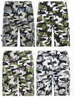 BOYS ARMY CARGO CAMOUFLAGE SHORTS 2-12years BNWT #LF157