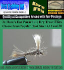 3 x Hare's Ear Parachute Dry Trout Flies  Popular Hook Sizes 12,14,16,18 and 20