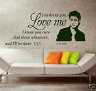 JUSTIN BIEBER WALL QUOTE wall sticker  Love Wall Quote  Great Gift REMOVABLE S37