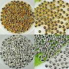 Wholesale! 2mm,2.4mm,3.2mm,4mm,6mm Round Metal Spacer Beads Gold/Silver Plated