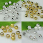 Wholesale 200pcs silver/gold plated copper stardust round spacer beads 6mm/8mm