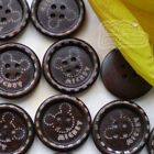 Mickey 2 Hole 27mm Wood Buttons Sewing Scrapbooking Craft C009