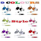 HANDSFREE HEADSET HEADPHONE MICROPHONE EARPHONE COLOUR FOR MOBILE iPhone Samsung