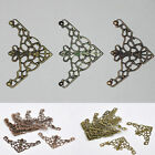10 x filigree corner embellishments/scrapbooking/cardmaking - you choose colour