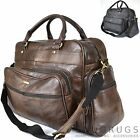 REAL LEATHER TRAVEL BAG HOLDALL DUFFLE BAG HOLIDAY LUGGUAGE CABIN SIZE