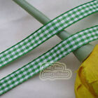 50 Yds/Roll Green Gingham Scotish Ribbons 6mm,10mm,15mm,18mm,24mm Sewing E1-2