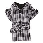 First Lady Gingham black Trench dog coat jacket pet clothing XS S S/M or L sizes