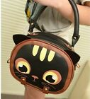 Fashion Mini cat handbags Lady Shoulder bags Zip purse synthetic leather bb86