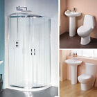 1700 x 750 Square Double Ended Bathroom Bath Tub with Basin Sink Toilet Set