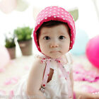 NWT Baby Toddler Girl Floral POLKA Dots Bonnet Reversible Sun Hat Cap Pink White