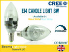 Cree E14 LED DIMMABLE 3W 6W 9W 12W Candle Spotlight WARM COOL WHITE LIGHT BULB