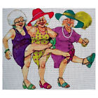 Needlepoint canvas ''Dancing elderly ladies''