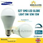 E27 Samsung SMD LED Globe DIMMABLE 9W 12W 15W WARM COOL WHITE LIGHT BULB
