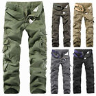 MENS CASUAL MILITARY ARMY CARGO CAMO COMBAT WORK PANTS TROUSERS SIZE 31-38 Sbi