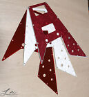 Lu luthier '67 Reissue Gibson Flying V Pickguard - CREAM RED PEARL - RED MIRROR