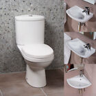 Modern Toilet Bathroom Cloakroom Suite With Option of Wall Hung Mounted Basin