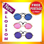 AS94 1960's 1970's Lennon Hippie Beatles Pink Blue Purple Costume Sunglasses